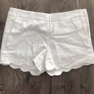Cynthia Rowley Scalloped Shorts